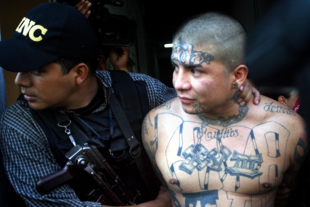 """5. GWATEMALA: Alex Danilo Ramirez, aka """"el Smaily"""", przywódca """"Mara 18"""" w stolicy Gwatemali. PHOTO AFP ALEXANDER MARTINEZ"""