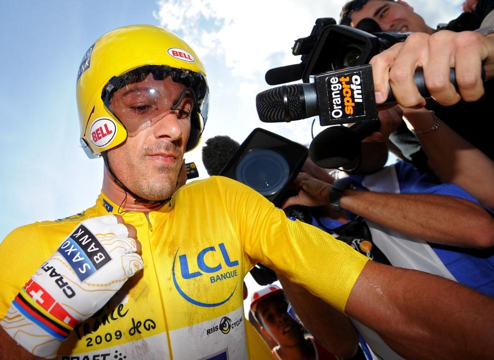 13. FRANCJA, Montpellier: Fabian Cancellara (Szwajcaria) po zakończeniu jednego z etapów jazdy na czas. (Foto: Jasper Juinen/Getty Images)