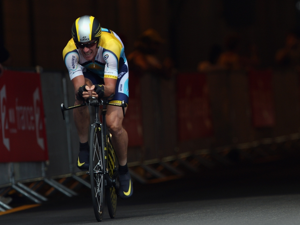14. MONAKO: Siedmiokrotny zwycięzca, Lance Armstrong (USA), podczas pierwszej próby czasowej. (Foto: Bryn Lennon/Getty Images)