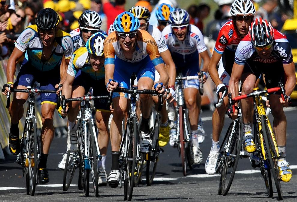 26. ANDORA: Bradley Wiggins (Wielka Brytania) finiszujący podczas siódmego etapu wyścigu. (Foto: Jasper Juinen/Getty Images)