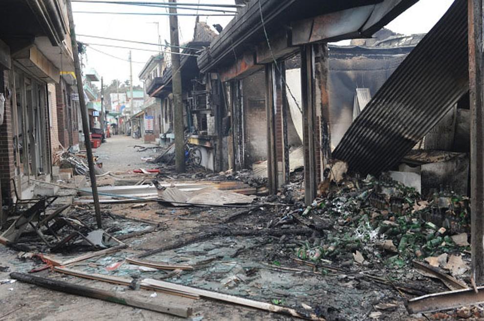 18. KOREA POŁUDNIOWA, Yeonpyeong, 24 listopada 2010: Zniszczone domy na ostrzelanej wyspie Yeonpyeong. (Foto: Getty Images)
