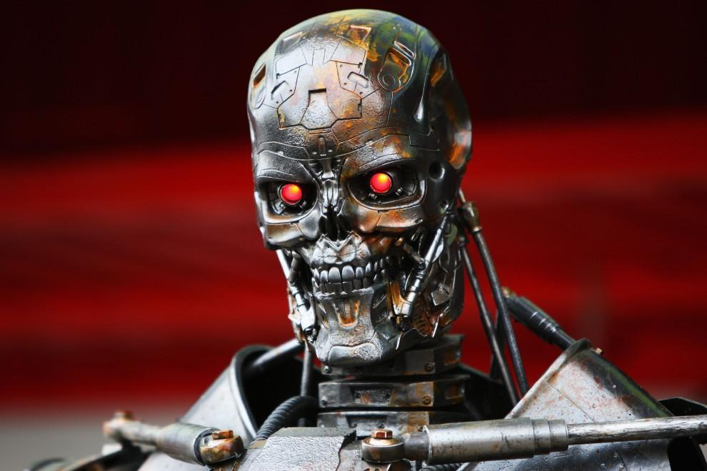 33. HISZPANIA, Barcelona, 9 maja 2009: Terminator stojący na padoku podczas Grand Prix F1 w Barcelonie. (Foto: Clive Mason/Getty Images)