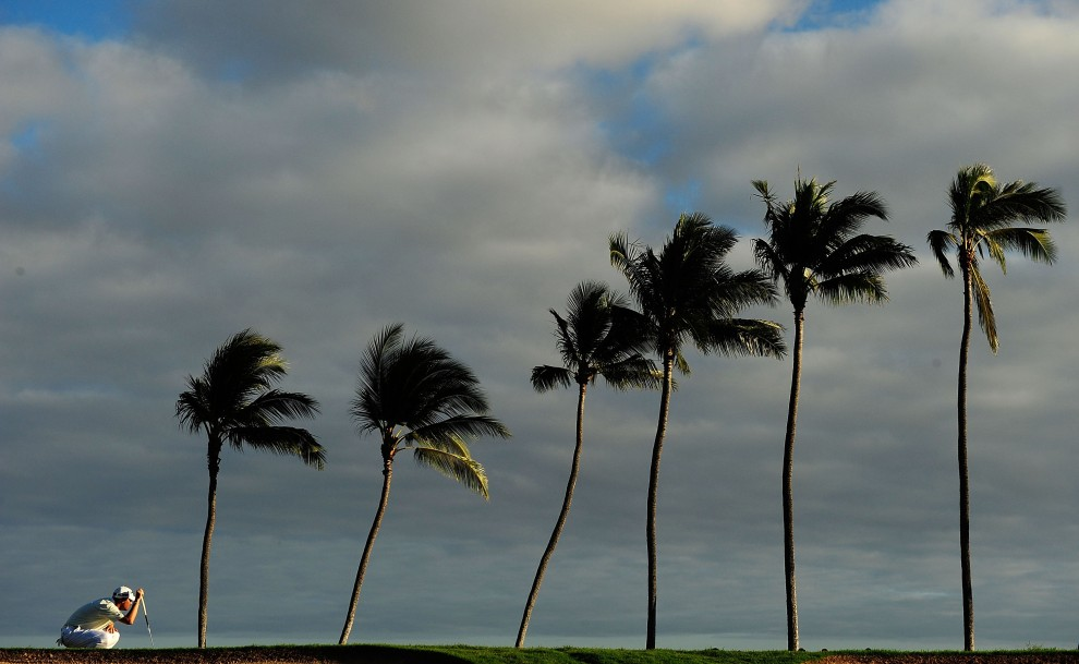 12. USA, Honolulu, 16 stycznia 2010: Ryan Palmer przy 17. dołku zawodów Sony Open. (Foto: Sam Greenwood/Getty Images)