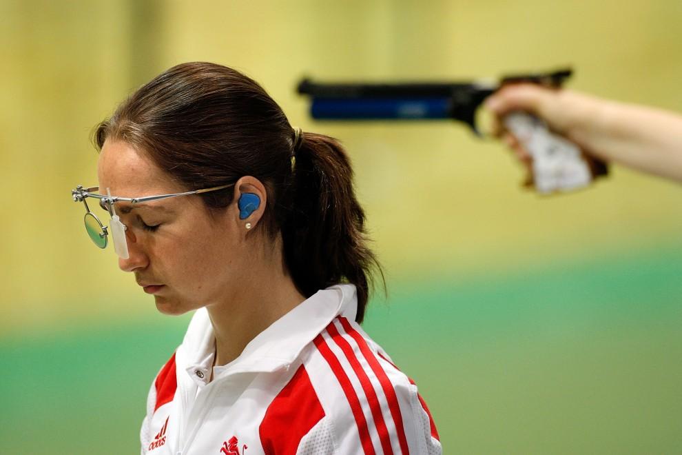 14. INDIE, New Delhi, 12 października 2010: Gorgs Geikie na strzelnicy podczas Olimpiady Wspólnoty Narodów. (Foto: Graham Crouch/Getty Images)