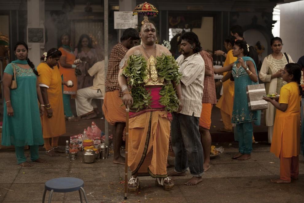 18. SINGAPUR, 20 stycznia 2011: Uczestnik procesji z okazji święta Thaipusam. (Foto: Chris McGrath/Getty Images)