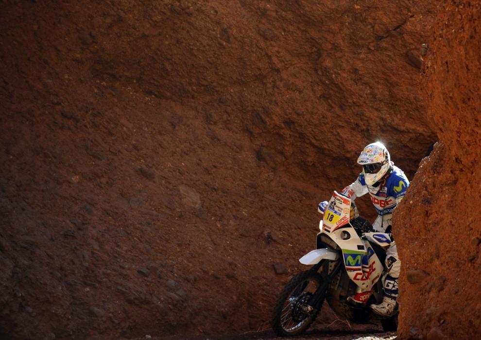 20. ARGENTYNA, Jujuy, 4 stycznia 2011: Hiszpan Gerard Farres Guell w kanionie San Rafael. AFP PHOTO/Daniel GARCIA