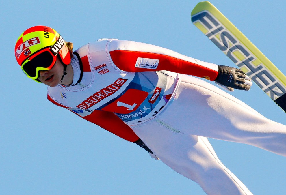 20. AUSTRIA, Innsbruck, 3 stycznia 2011: Tom Hilde – zdobywca trzeciego miejsca podczas zawodów w Innsbrucku. (Foto: Stanko Gruden/Agence Zoom/Getty Images)