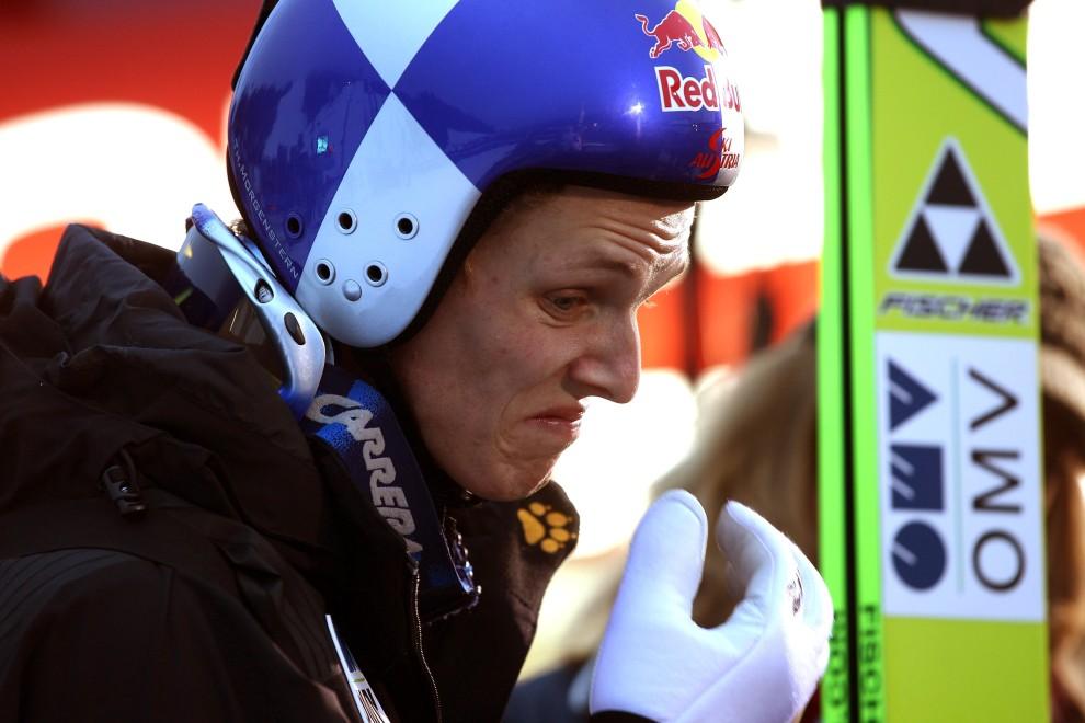 26. NIEMCY, Garmisch-Partenkirchen, 1 stycznia 2011: Thomas Morgenstern po zakończeniu sesji treningowej na Olympiaschanze. (Foto: Alexander Hassenstein/Bongarts/Getty Images)