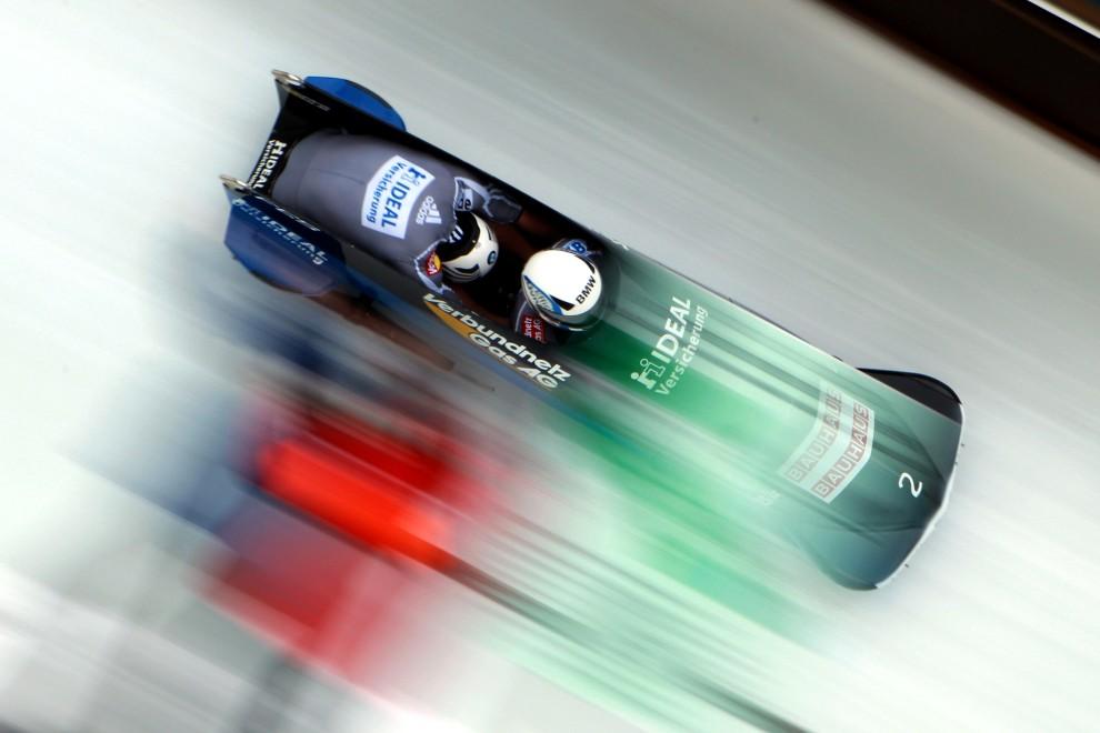 13. NIEMCY, Koenigssee, 20 lutego 2011: Niemiecka osada bobslejowa w składzie: Thomas Florschuetz i Kevin Kuske na torze w Koenigssee. (Foto: Alexander Hassenstein/Bongarts/Getty Images)