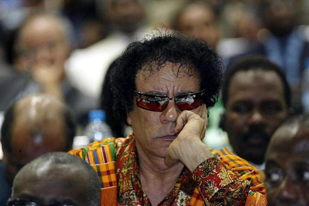 24. MOZAMKBIK, Maputo, 12 lipca 2003: Muammar al-Kaddafi na szczycie Unii Afrykańskiej. AFP