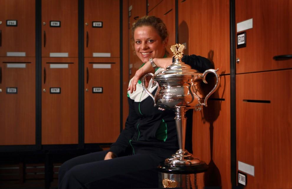 26. AUSTRALIA, Melbourne, 29 stycznia 2011: Kim Clijsters – tryumfatorka  tegorocznej edycji Australian Open . AFP PHOTO / HO / FIONA HAMILTON