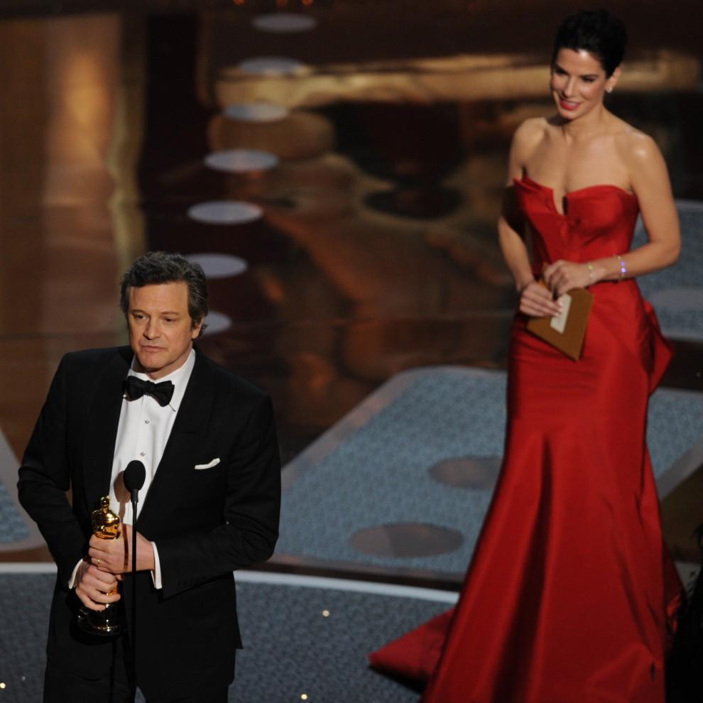 27. USA, Hollywood, 27 lutego 2011: Colin Firth dziękuje za wyróżnienie dla najlepszego aktora. AFP PHOTO / GABRIEL BOUYS