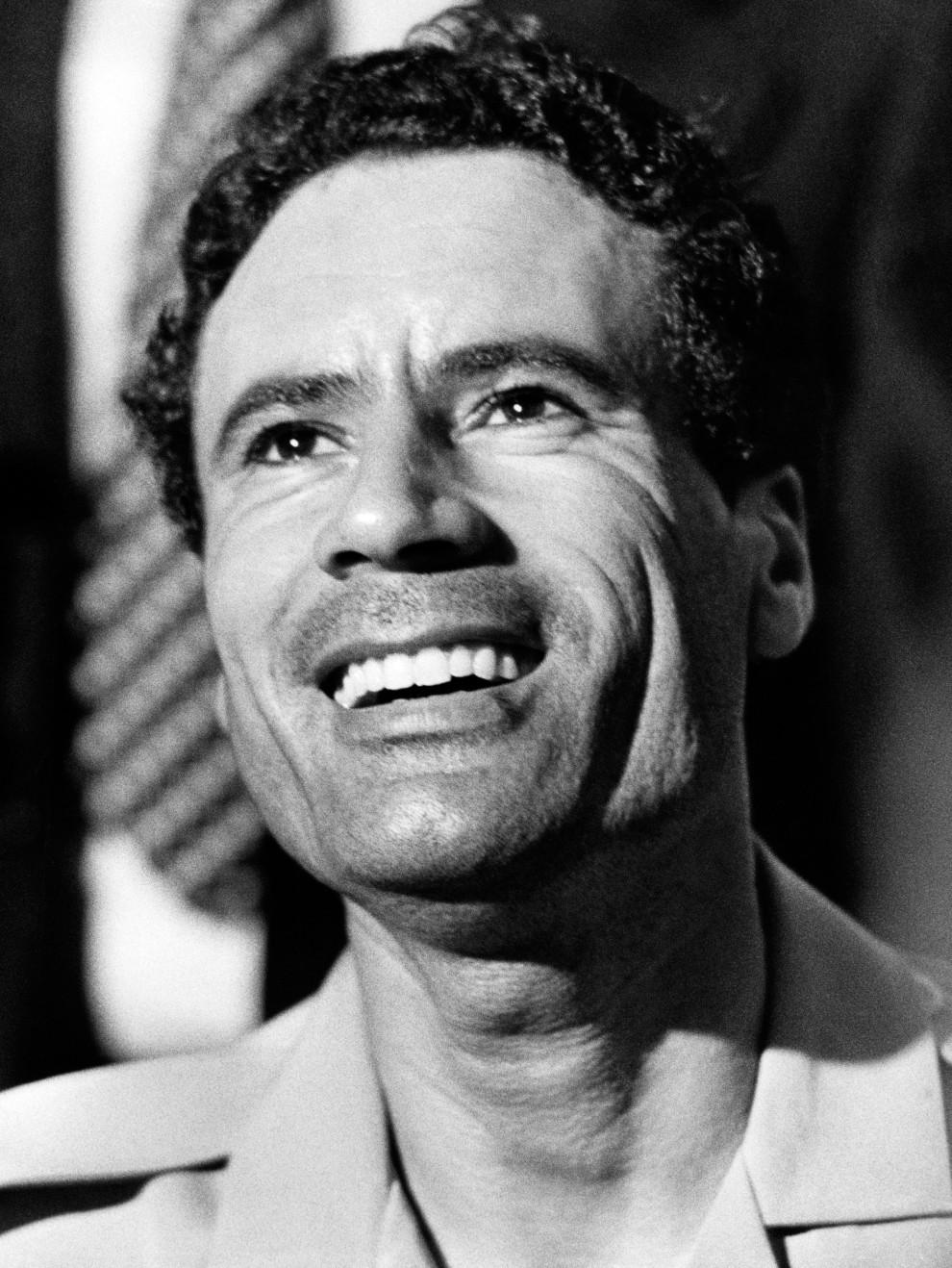 2. ALGIERIA, Algier, 9 września 1973: Portret Muammara al-Kaddafiego z konferencji państw niezaangażowanych. AFP