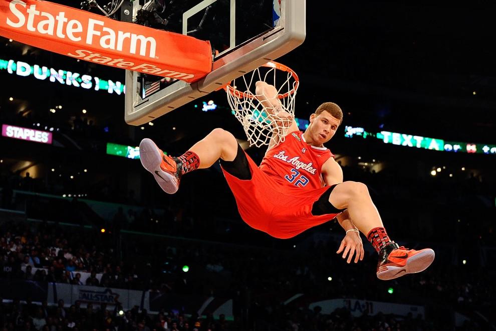 5. USA, Los Angeles, 19 lutego 2011: Zwycięzca konkursu wsadów - Blake Griffin. Kevork Djansezian/Getty Images/AFP