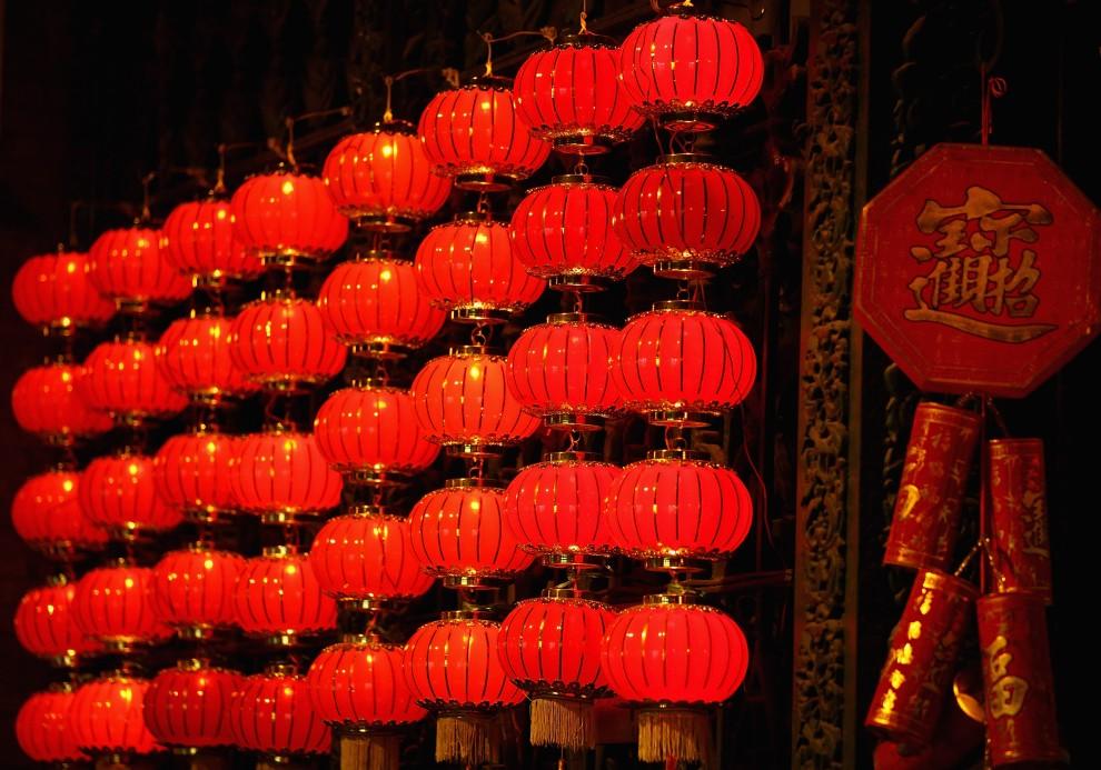 9. CHINY, Pekin, 31 stycznia 2011: Tradycyjna dekoracja na Qianmen Avenue w Pekinie. (Foto: Feng Li/Getty Images)
