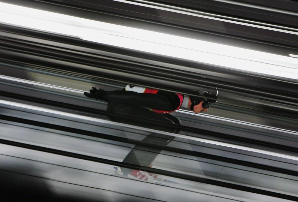 24. WŁOCHY, Pragelato, 12 lutego 2006: Adam Małysz na najeździe skoczni w Pragelato. (Foto: Donald Miralle/Getty Images)