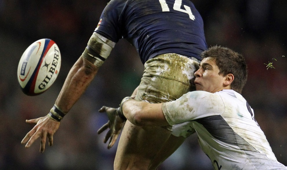 36. WIELKA BRYTANIA, Londyn, 26 lutego 2011: Mecz rugby pomiędzy drużynami Francji i Anglii. AFP PHOTO / ADRIAN DENNIS