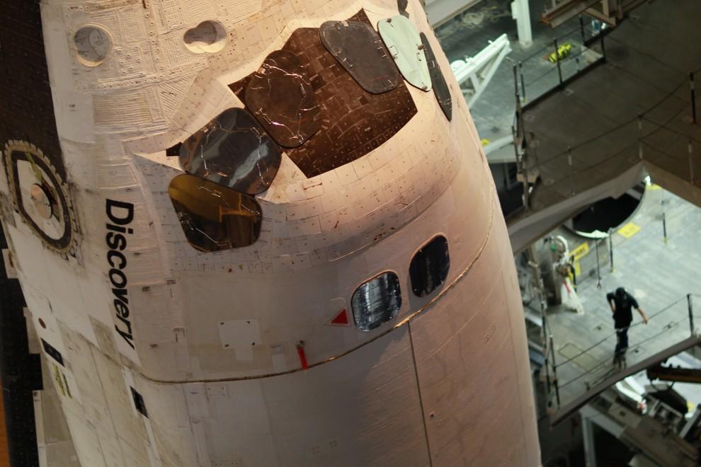 4. USA, Canaveral, 31 stycznia 2011: Fragmnt kadłubu wahadłowca Discovery. Joe Raedle/Getty Images/AFP