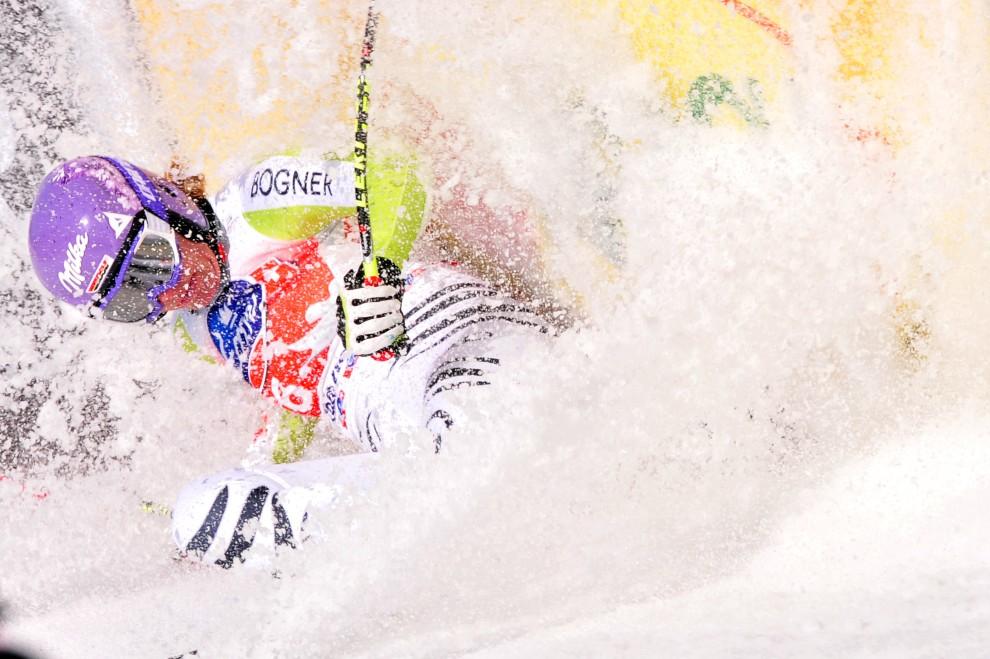7. WŁOCHY, Tarvisio, 5 marca 2011: Niemka Maria Riesch na mecie zawodów w Tarvisio. AFP PHOTO / GIUSEPPE CACACE