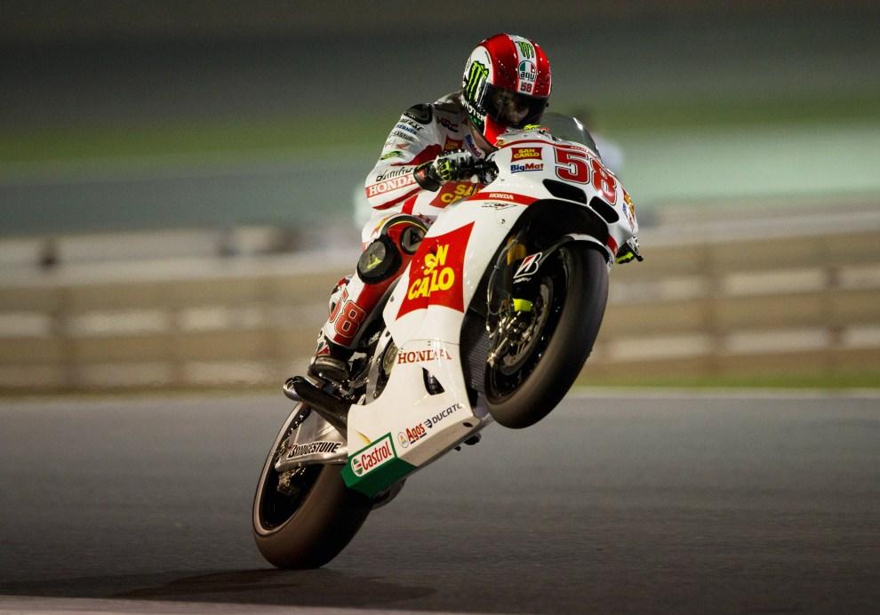 11. KATAR, Doha, 17 marca 2011: Marco Simoncelli (San Carlo Honda Gresini) podczas treningu przed Doha GP. (Foto: Mirco Lazzari gp/Getty Images)