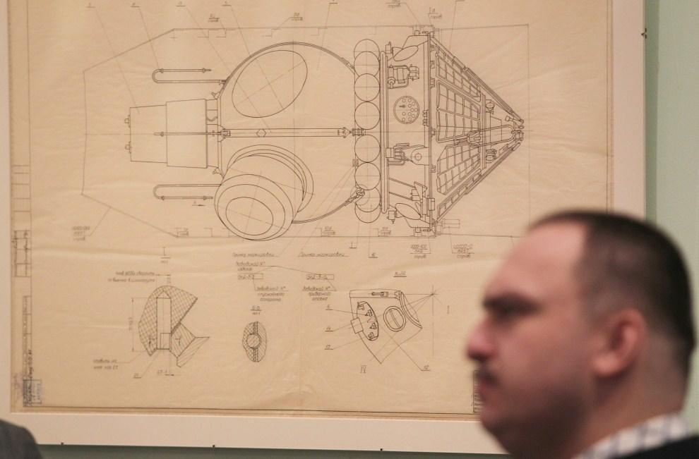17. ROSJA, Moskwa, 8 kwietnia 2011: Projekt Wostok 1 – eksponat wystawy upamiętniającej lot Gagarina. PAP/EPA