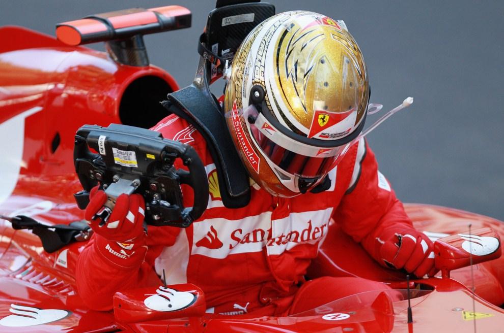 18. MONAKO, 29 maja 2011: Fernando Alonso (Ferrari), który jako drugi przejechał linię mety. (Foto: Paul Gilham/Getty Images)