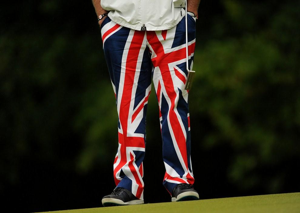 27. WIELKA BRYTANIA, Wentworth, 26 maja 2011: John Daly przy 15. dołku BMW PGA Championship. AFP PHOTO/ BEN STANSALL