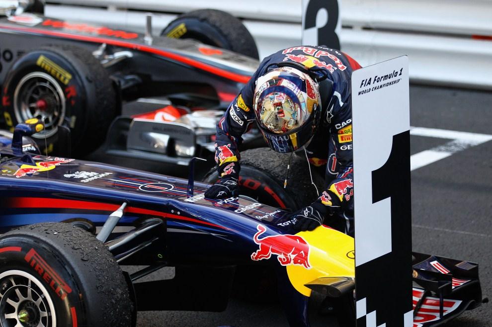 29. MONAKO, 29 maja 2011: Sebastian Vettel (Red Bull Racing) tuż po zwycięstwie w GP Monako. (Foto: Paul Gilham/Getty Images)