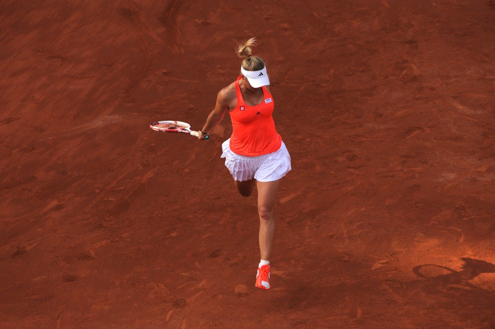 35. BELGIA, Bruksela, 20 maja 2011: Caroline Wozniacki podczas meczu z Francescą Schiavone. AFP PHOTO / JOHN THYS