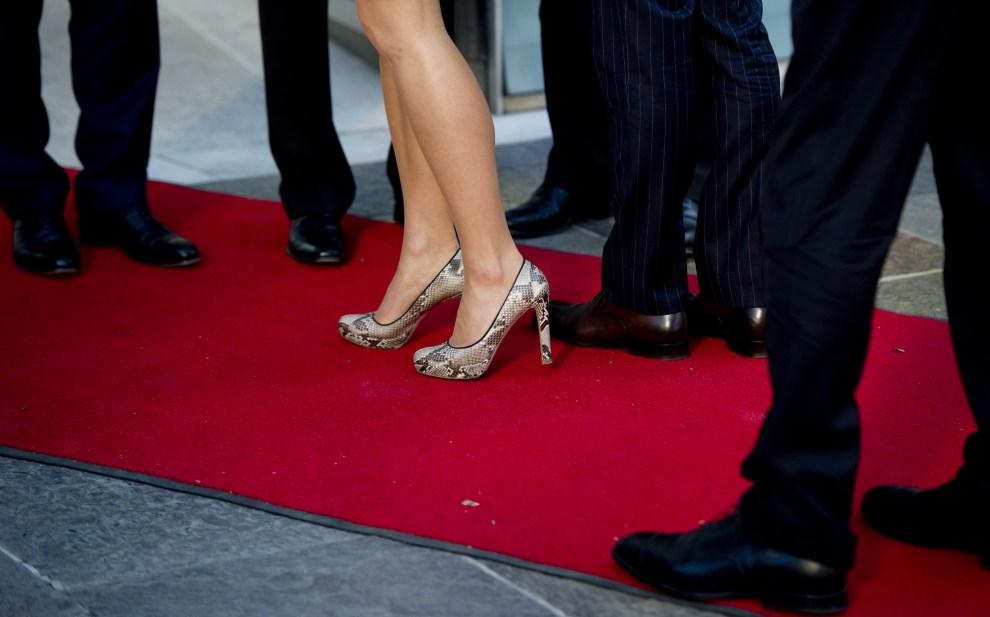 39. NIEMCY, Berlin, 26 maja 2011: Wiktoria Bernadotte, następczyni szwedzkiego tronu, podczas wizyty w Berlinie. AFP PHOTO / JOHANNES EISELE