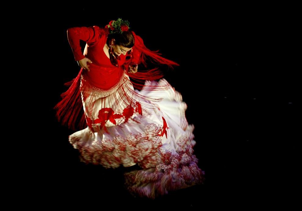 5. HISZPANIA, Jerez, 9 marca 2005: Milagros Mengibar tańczy podczas festawialu flamenco w Jerez. AFP