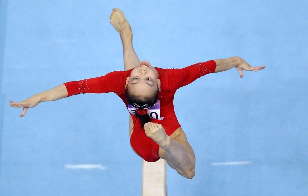 29. SINGAPUR, 17 sierpania 2010: Chinka Sixin Tan w trakcie startu kwalifikacyjnego igrzysk olimpijskich młodzieży. (Foto: Julian Finney/Getty Images)
