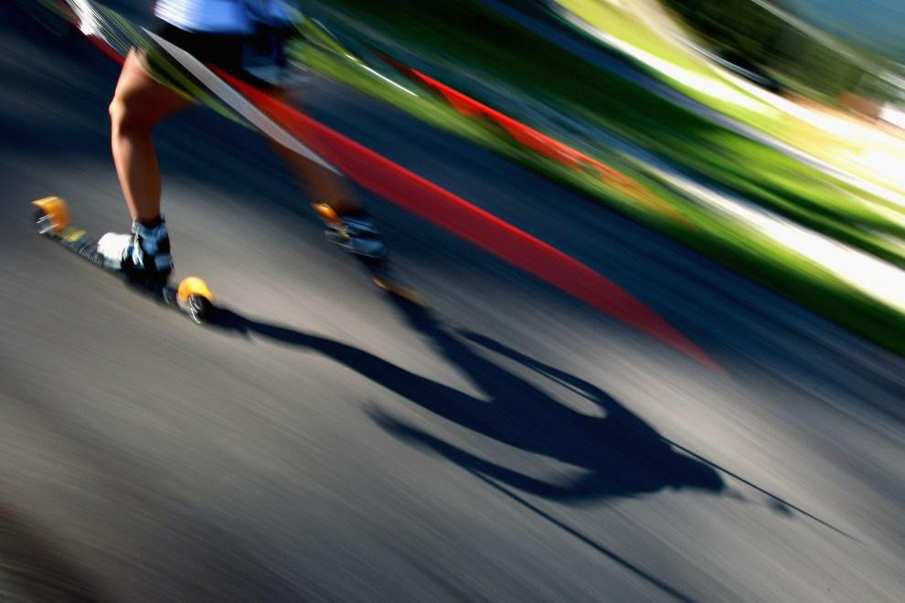 23. NIEMCY, Ruhpolding, 16 września 2011: Zawodniczka na trasie biegu na 15 km. (Foto: Alexander Hassenstein/Bongarts/Getty Images)
