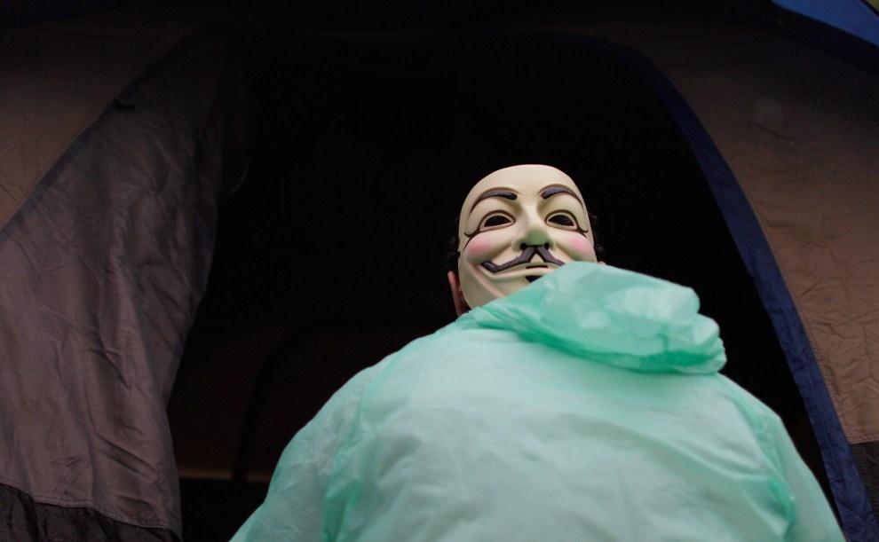 31. USA, Miami, 17 października 2011: Jorge Fernandez protestujący Budynkiem rządowym w Miami. (Foto: Joe Raedle/Getty Images)