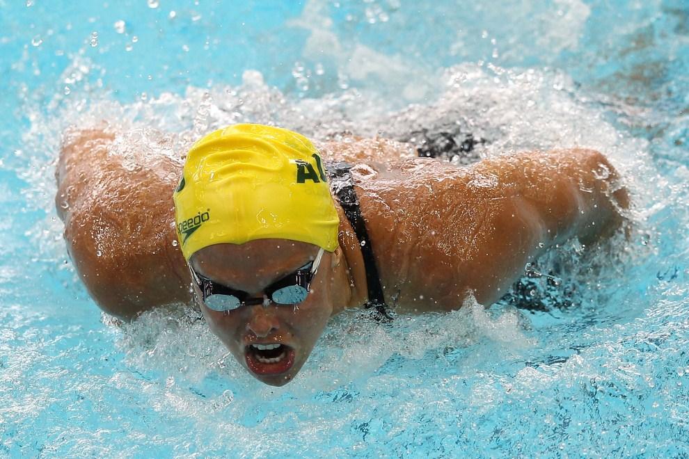 26. SINGAPUR, 4 listopada 2011: Austrlijka Lisbeth Trickett podczas występu na mistrzostwach świata FINA. (Foto: Chris McGrath/Getty Images)