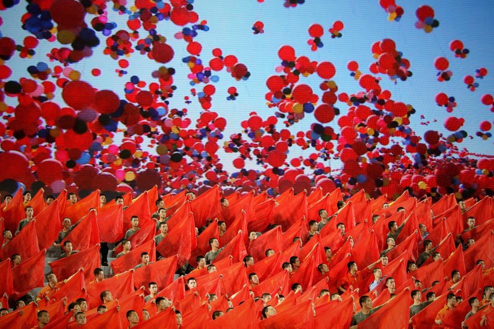 11.CHINY, Pekin, 28 czerwca 2011: Uroczysta gala z okazji 90. rocznicy założenia Komunistycznej Partii Chin. (Foto:  Feng Li/Getty Images)