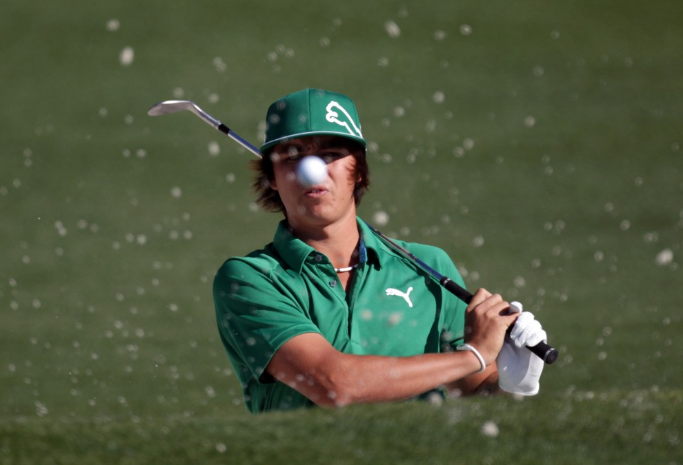 46.	USA, Augusta, 7 kwietnia 2011: Rickie Fowler podczas turnieju Masters w Augusta National Golf Club. (Foto:  Ross Kinnaird/Getty Images for Golf Week)