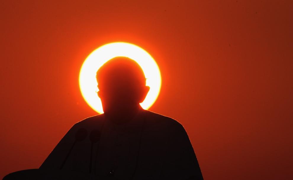 4.NIEMCY, Fryburg Bryzgowijski, 25 września 2011: Papież Benedykt XVI w trakcie pielgrzymki do ojczyzny. (Foto: Johannes Simon/Getty Images)