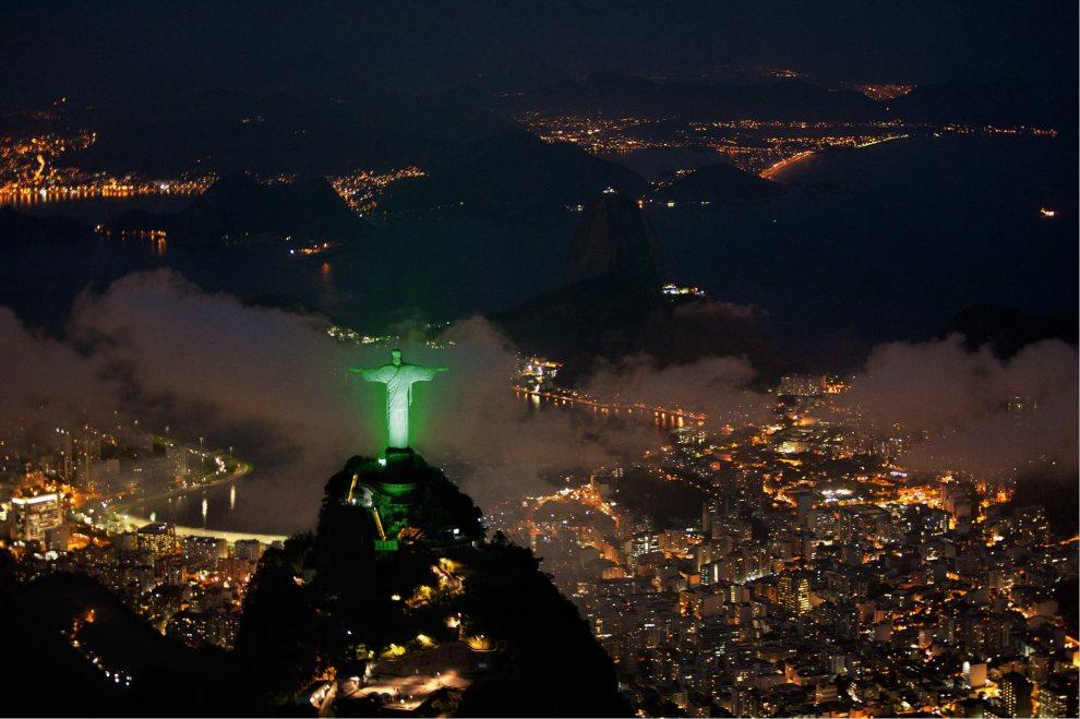 10.BRAZYLIA, Rio de Janeiro, 14 czerwca 2012: Panorama Rio w dniu inauguracji szczytu. AFP PHOTO/HO