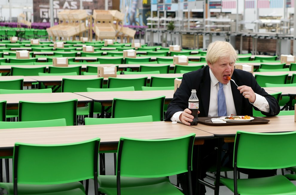19.WIELKA BRYTANIA, Londyn, 12 lipca 2012: Burmistrz Londynu, Boris Johnson, w czasie wizyty w  Parku Olimpijskim. (Foto: Scott Heavey/Getty Images)
