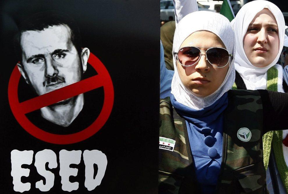19.TURCJA, Stambuł, 14 lipca 2012: Protest przeciwników prezydenta Baszara el-Asada. EPA/STR TURKEY OUT Dostawca: PAP/EPA.