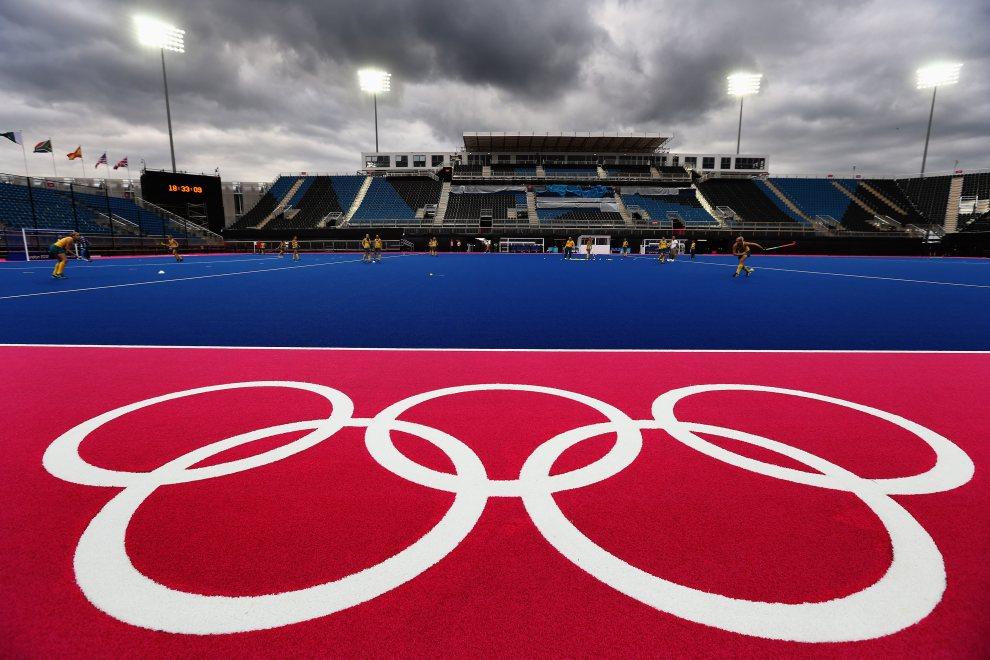 1.WIELKA BRYTANIA, Londyn, 17 lipca 2012: Trening kobiecej reprezentacji Australii w hokeju na trawie. (Foto: Paul Gilham/Getty Images)