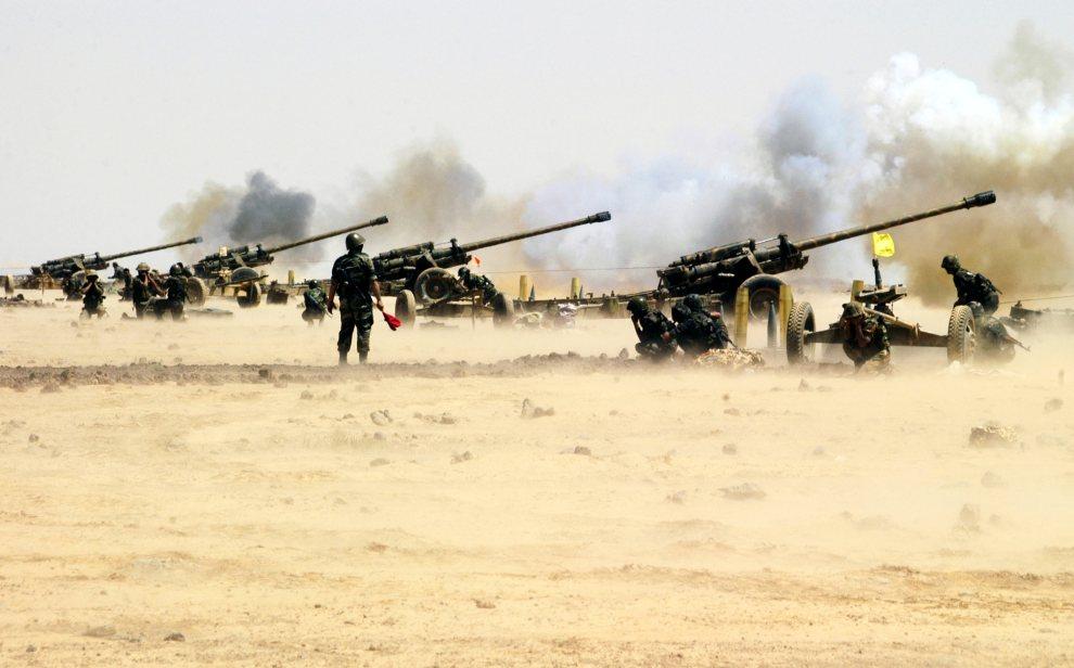 4.SYRIA, brak dokładnej lokalizacji, 8 lipca 2012: Syryjska artyleria w trakcie ćwiczeń. AFP PHOTO/HO