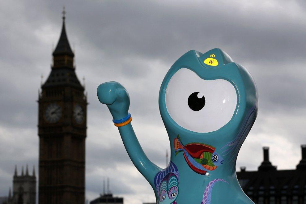 6.WIELKA BRYTANIA, Londyn, 17 lipca 2012: Wenlock, jedna z maskotek Olimpiady w Londynie. (Foto: Dan Kitwood/Getty Images)
