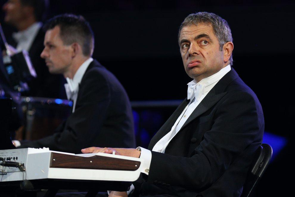 8.WIELKA BRYTANIA, Londyn, 27 lipca 2012: Rowan Atkinson w trakcie występu na uroczystości otwarcia. (Foto: Cameron Spencer/Getty Images)