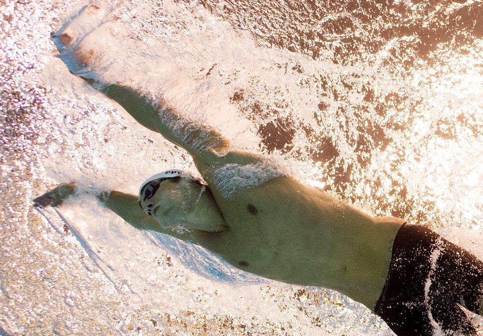 26.WIELKA BRYTANIA, Londyn, 30 lipca 2012: Michael Phelps (USA) w czasie wyścigu na dystansie 200 m. AFP PHOTO / FRANCOIS XAVIER MARIT