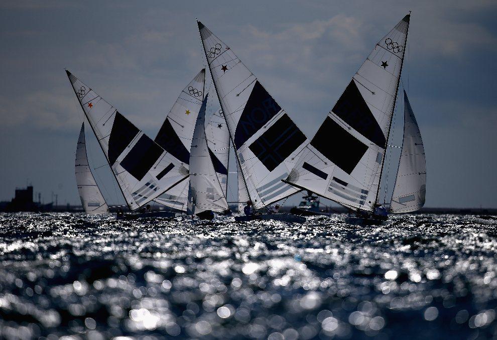 26.WIELKA BRYTANIA, Weymouth, 29 lipca 2012: Zmagania załóg łodzi w klasie Star. (Foto:  Clive Mason/Getty Images)