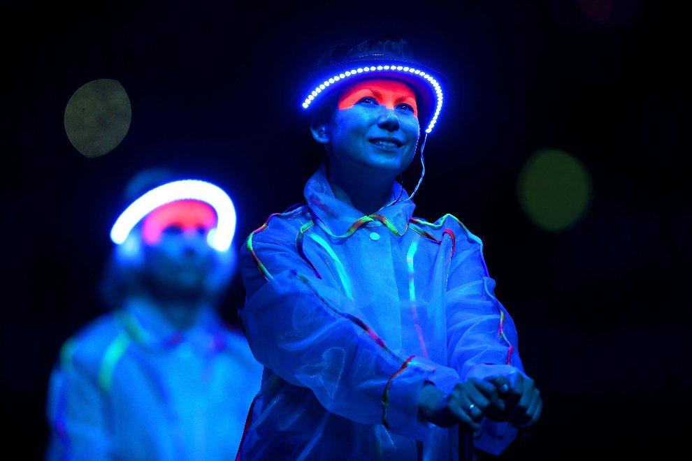32.WIELKA BRYTANIA, Londyn, 29 sierpnia 2012: Występ artystów w czasie ceremonii otwarcia paraolimpiady. (Foto: Clive Rose/Getty Images)