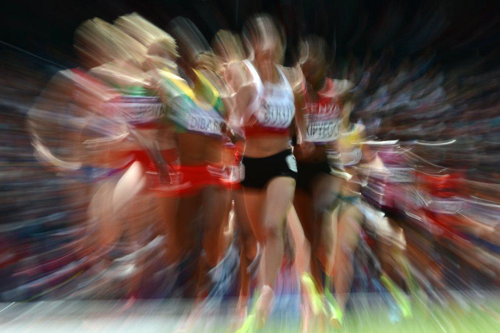 5.WIELKA BRYTANIA, Londyn, 6 sierpnia 2012: Uczestniczki biegu na dystansie 1500 m. AFP PHOTO / FRANCK FIFE
