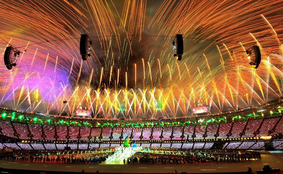 6.WIELKA BRYTANIA, Londyn, 12 sierpnia 2012: Uroczyste zakończenie igrzysk w Londynie. AFP PHOTO / JOHN STILLWELL/POOL